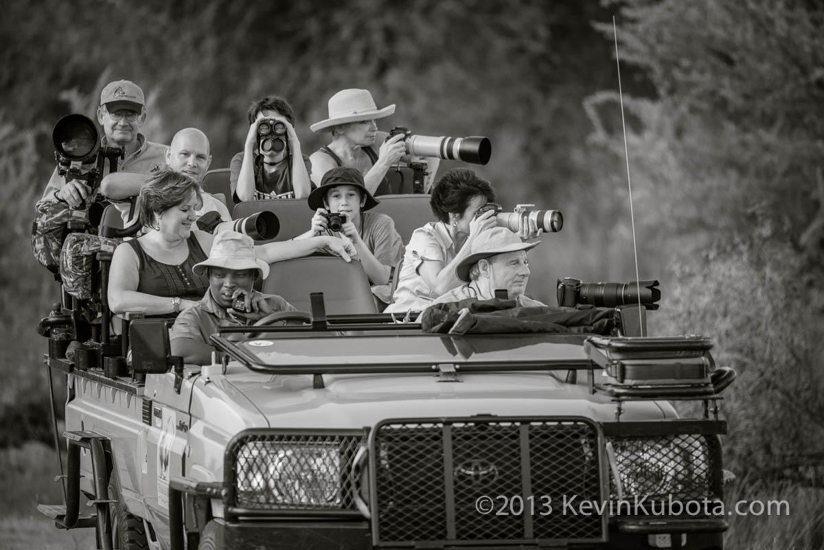 The safari vehicle. Love them Landcruisers!