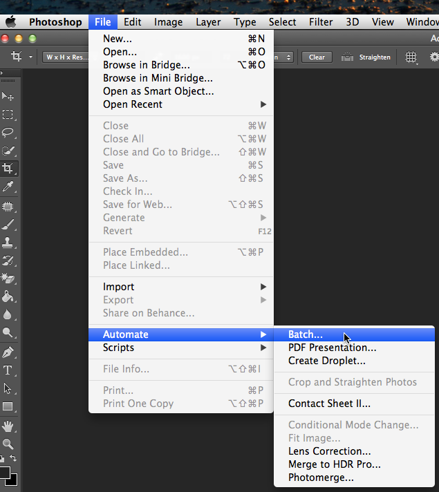 Use Photoshops Batch tool as you would with any standard action.