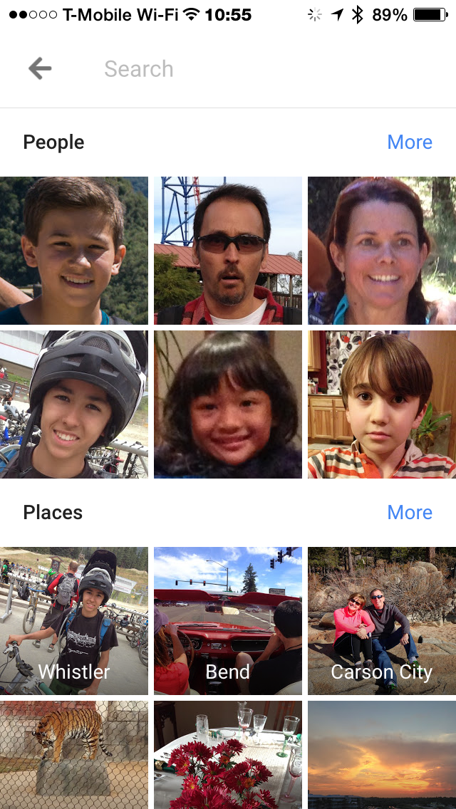 Google photos figures out the most photographed people and places in my life as well.