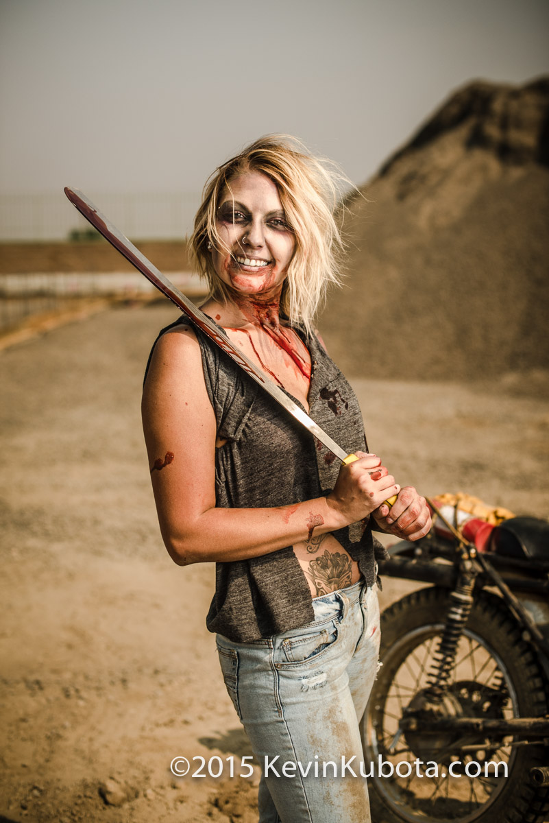 No zombies were harmed in the making of these portraits. She how happy and healthy she looks!