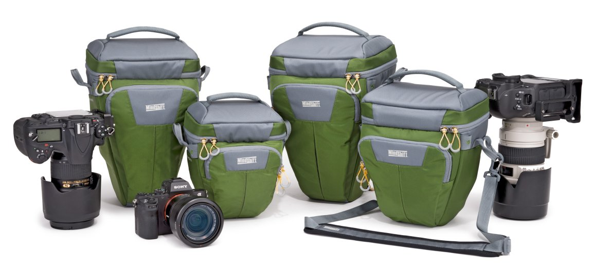 The full line of Multi-Mount carriers. Cameras not included. Duh.