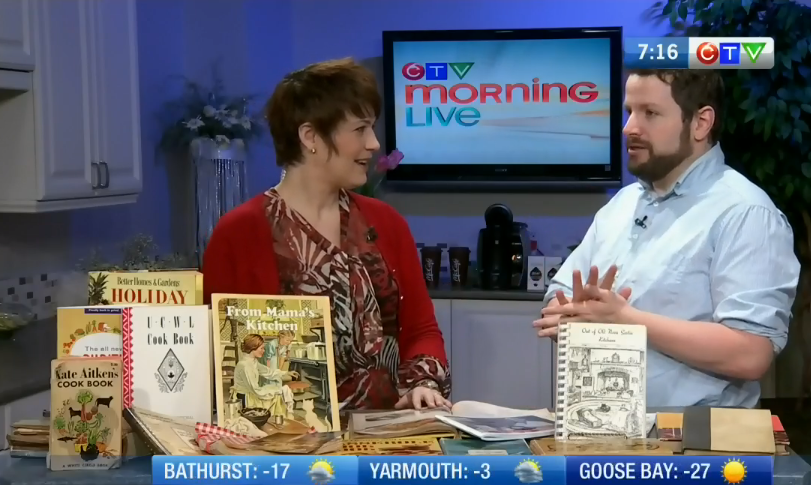 Joining CTV Morning Live's Heidi Petracek and talking about old kitchens and the meals that came out of them.