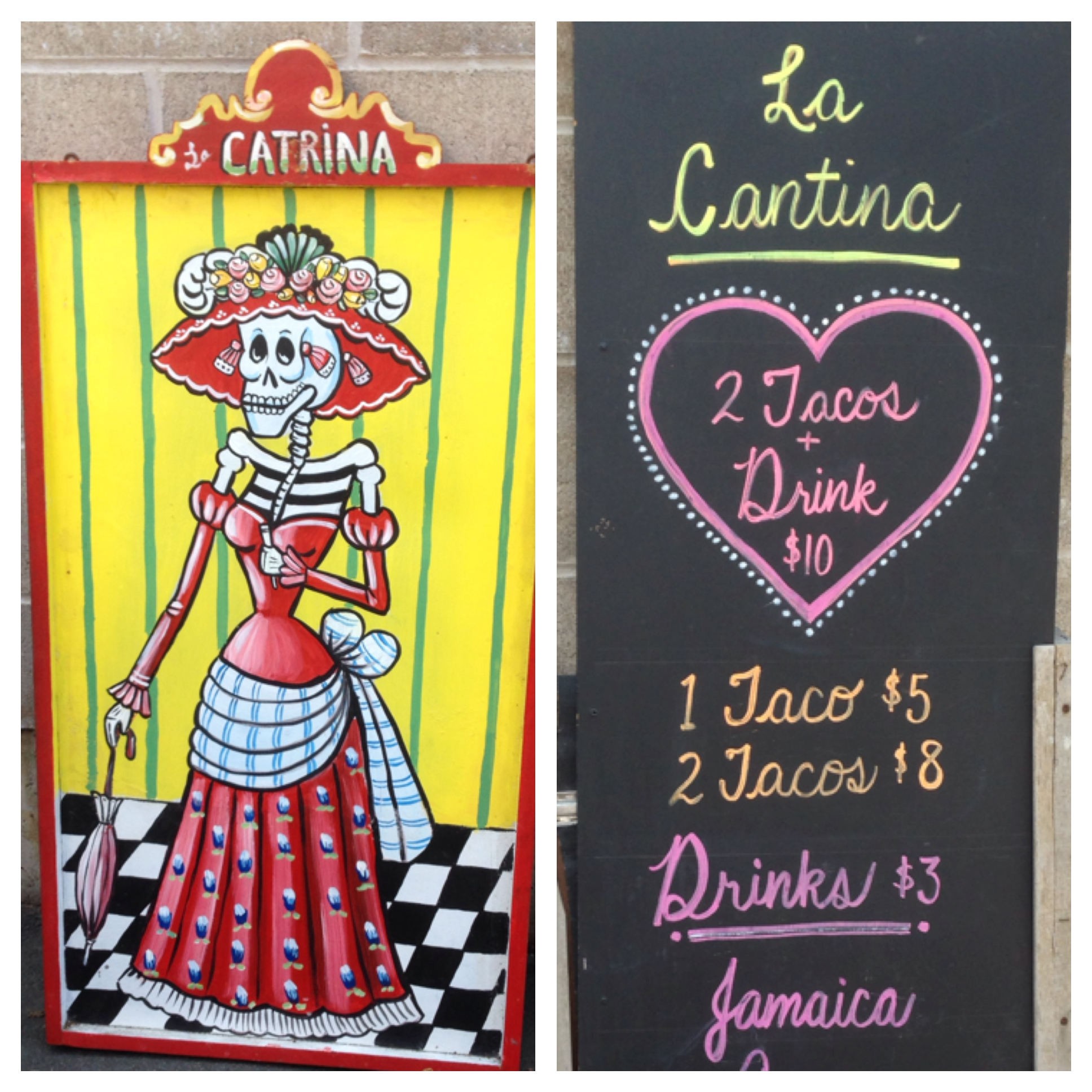 La Catrina greets you over at La Cantina.