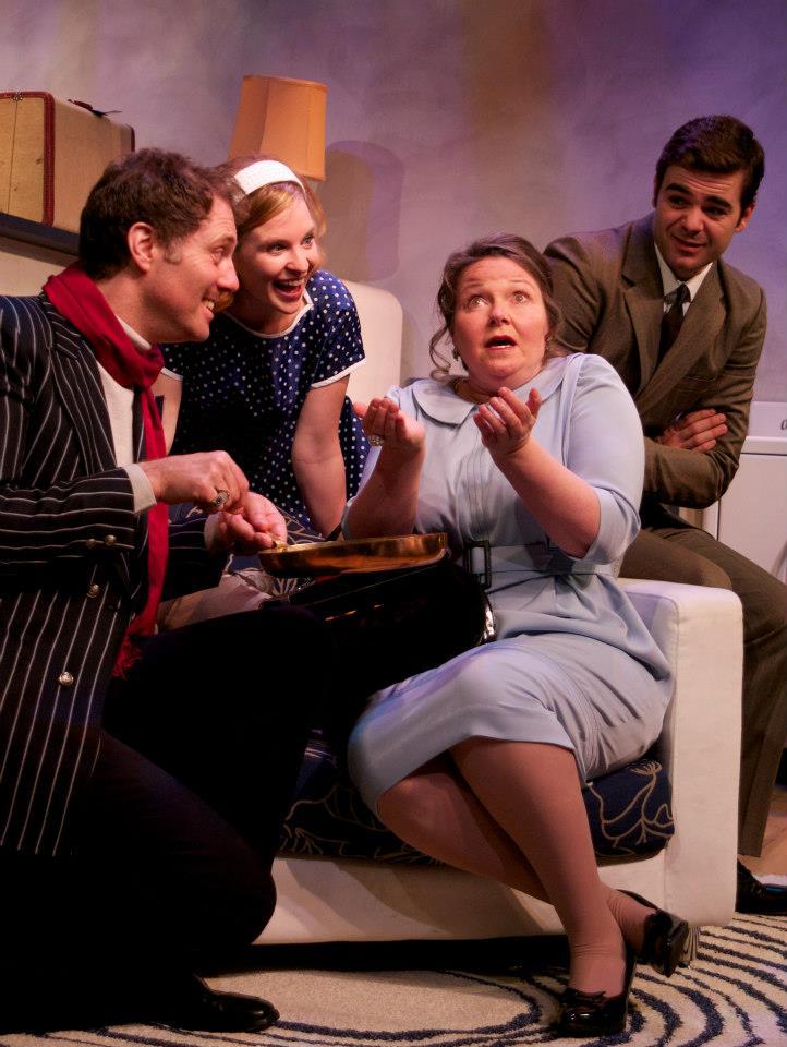 David (far left) with Cassia Schramm, Marie Russell, and Aaron Krogman. Photo by Morris Ertman.