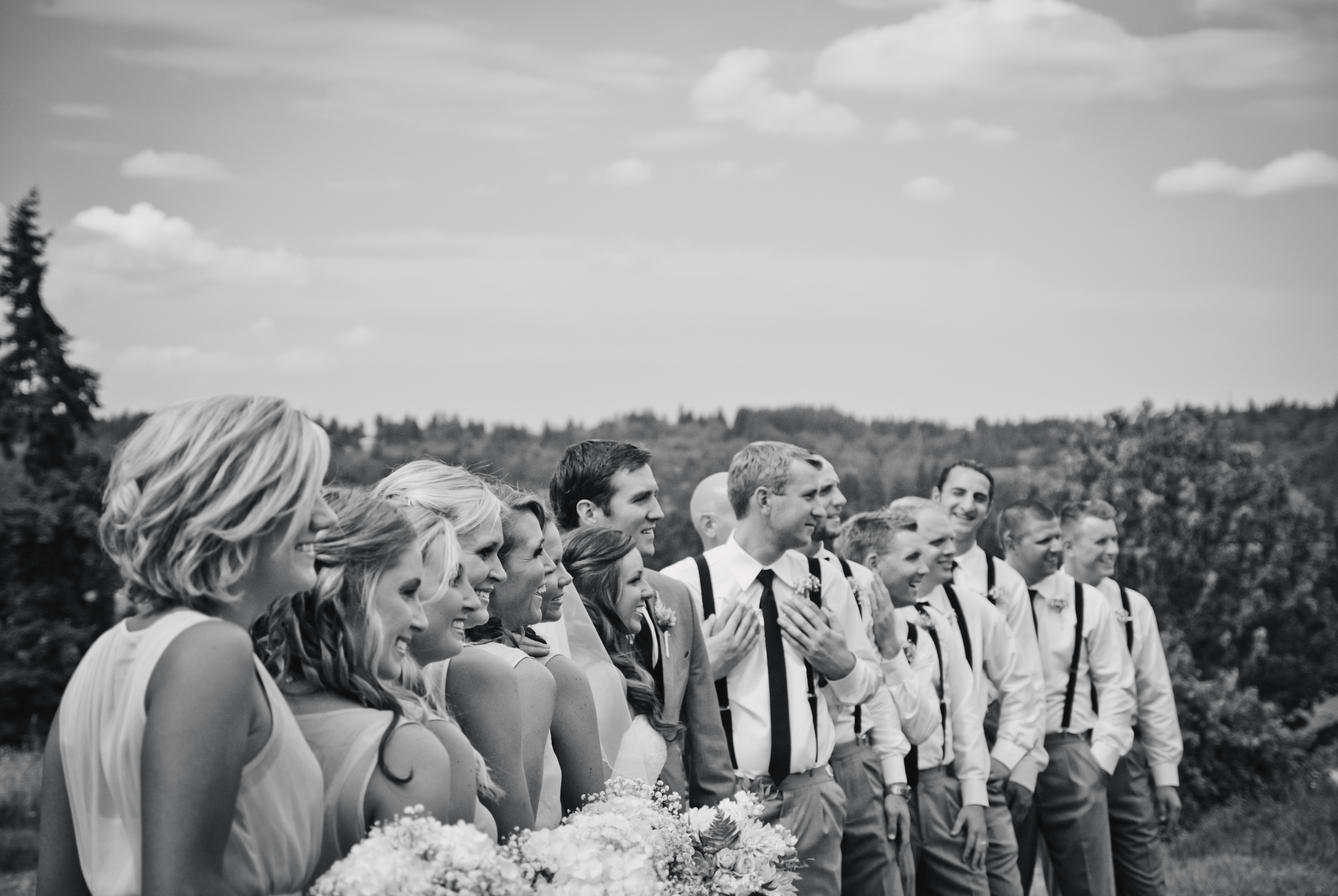 Portrait of bridal party by Ripe Photography in Oregon City, Oregon.