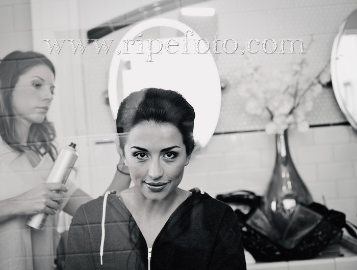 Portrait of bridal prep by Ripe Photography.