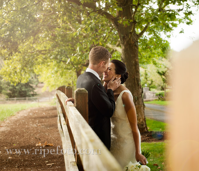 Portrait of bride and groom by Ripe Photography.