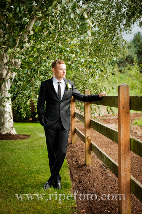 Portrait of groom by Ripe Photography.