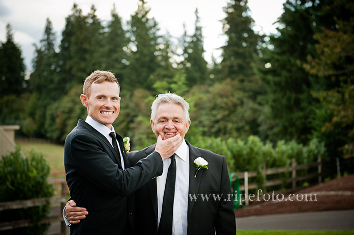 Portrait of groom and father by Ripe Photography.