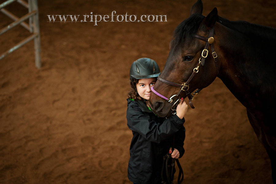 Portrait of teen with horse by Ripe Photography at Dream Ridge Stables.