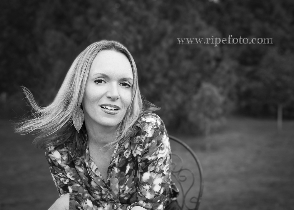 Black and white portrait of woman by Portland portrait photographer Ripe Photography.