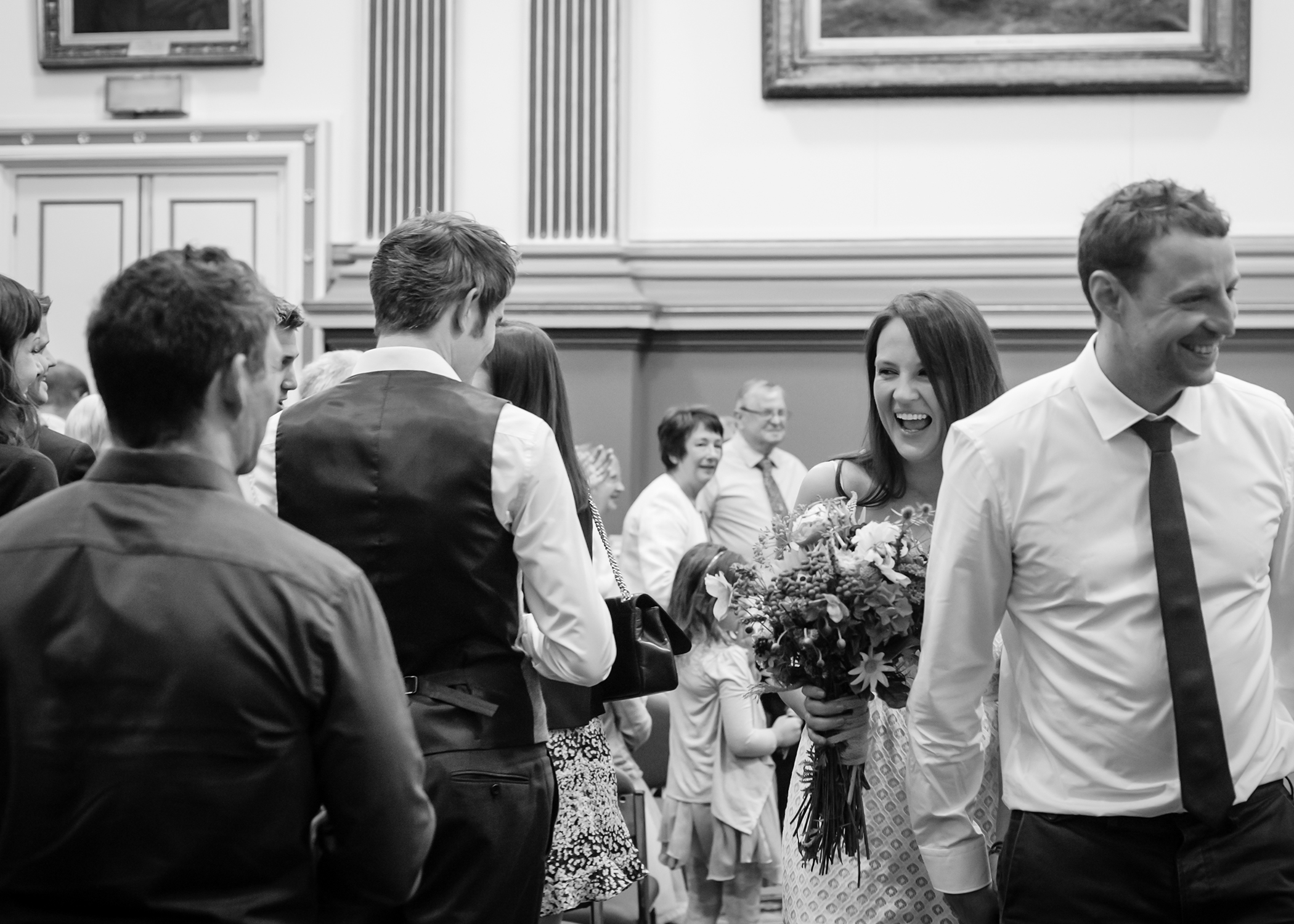 Portrait of wedding ceremony by wedding photographers at Ripe Photography in Leeds, England.