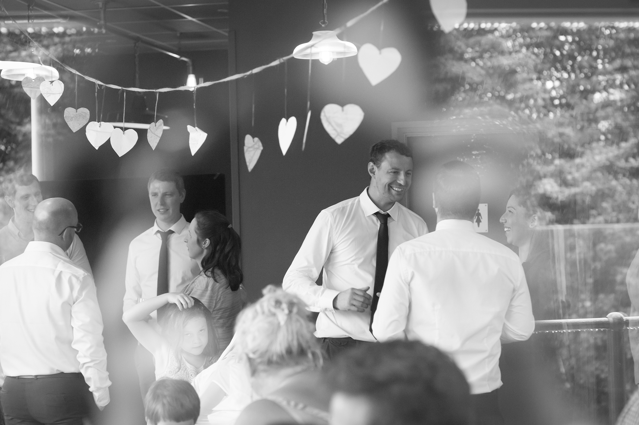 Portrait of wedding reception by wedding photographers at Ripe Photography in Leeds, England.