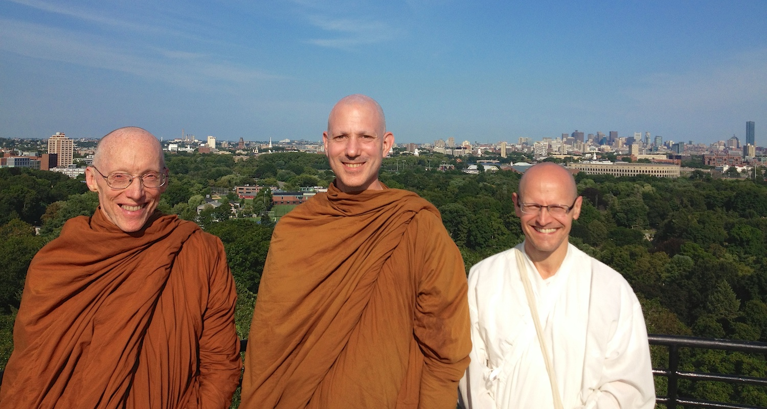 Ven. Caganando, Ajahn Jayanto and Jeff Miller in August