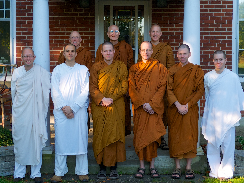 With Luang Por Viradhammo and the Tisarana monastic community