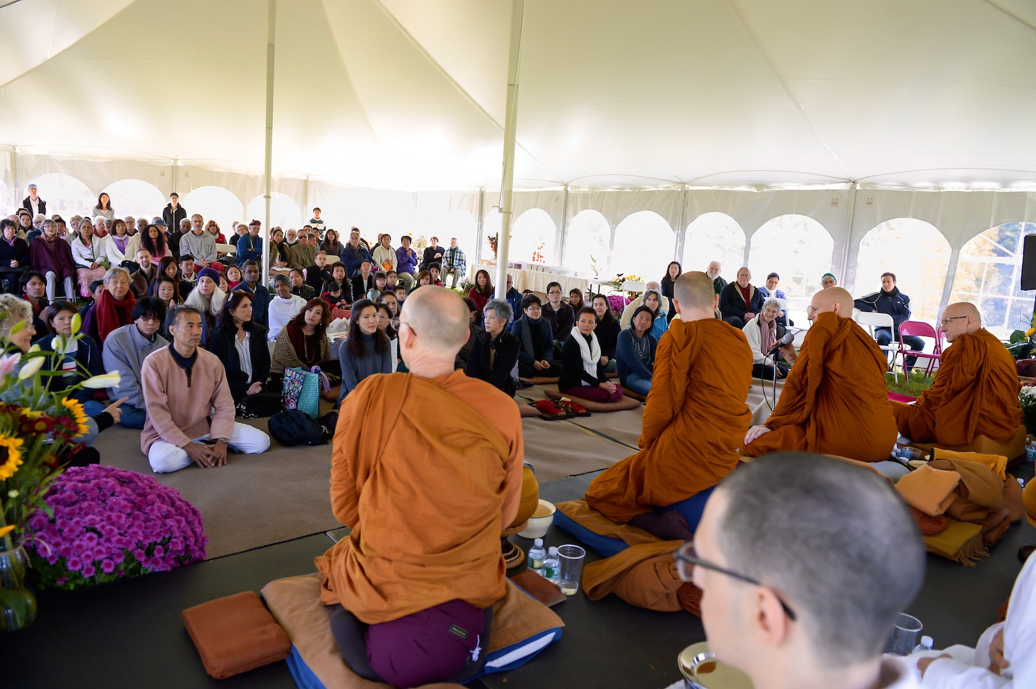 Gathering in the tent at the Pa Bah in 2014