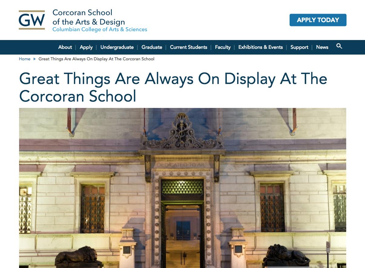AFA - DIGITAL MEDIA DESIGN - Corcoran College of Art + Design**Closed 2014, Merged with GWU