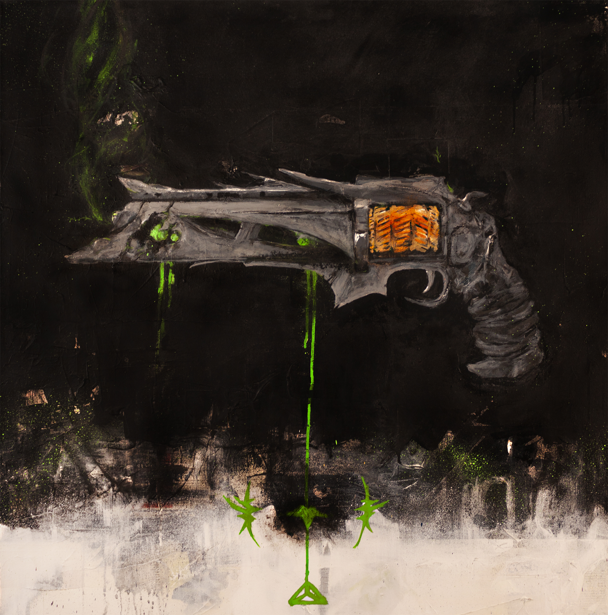 """Final Version Thorn  42x36"""" Mixed Media on Canvas"""