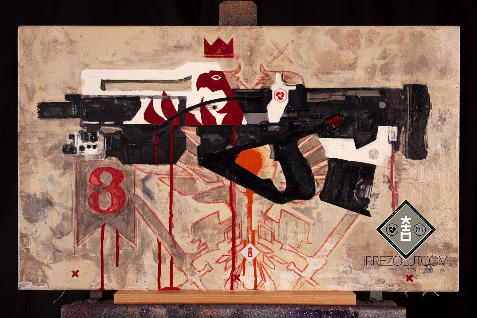 Redrix's Claymore (Complete) - background and decoration concept complete - final definition on arm added - preview photo (not print ready)