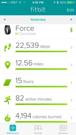 Fitbit Dashboard (iOS app)