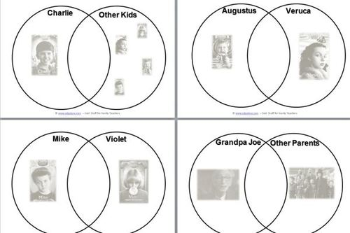 charlie and the chocolate factory venn diagrams  edgalaxy cool  charlie and the chocolate factory venn diagrams  edgalaxy cool stuff for  nerdy teachers