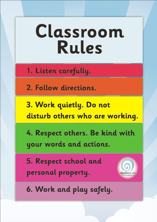 picture about Free Printable Classroom Rules Poster identified as Absolutely free Clroom Legislation Poster Edgalaxy - Education strategies and