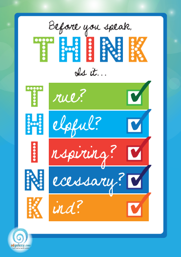 Before you speak, think poster