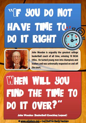 John Wooden Motivation poster