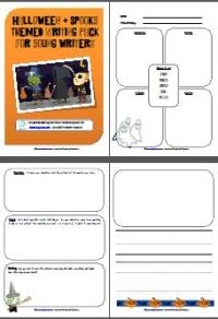 8 page Halloween themed writing pack