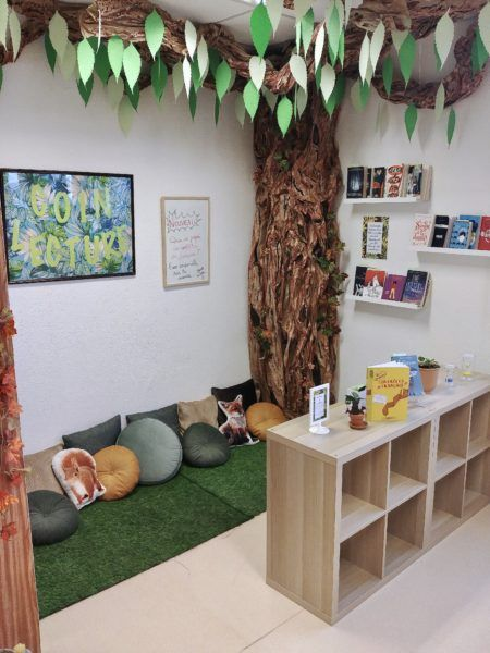 Forest reading corners are always appealing