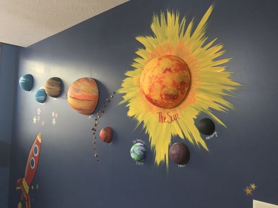 space is always a popular classroom theme