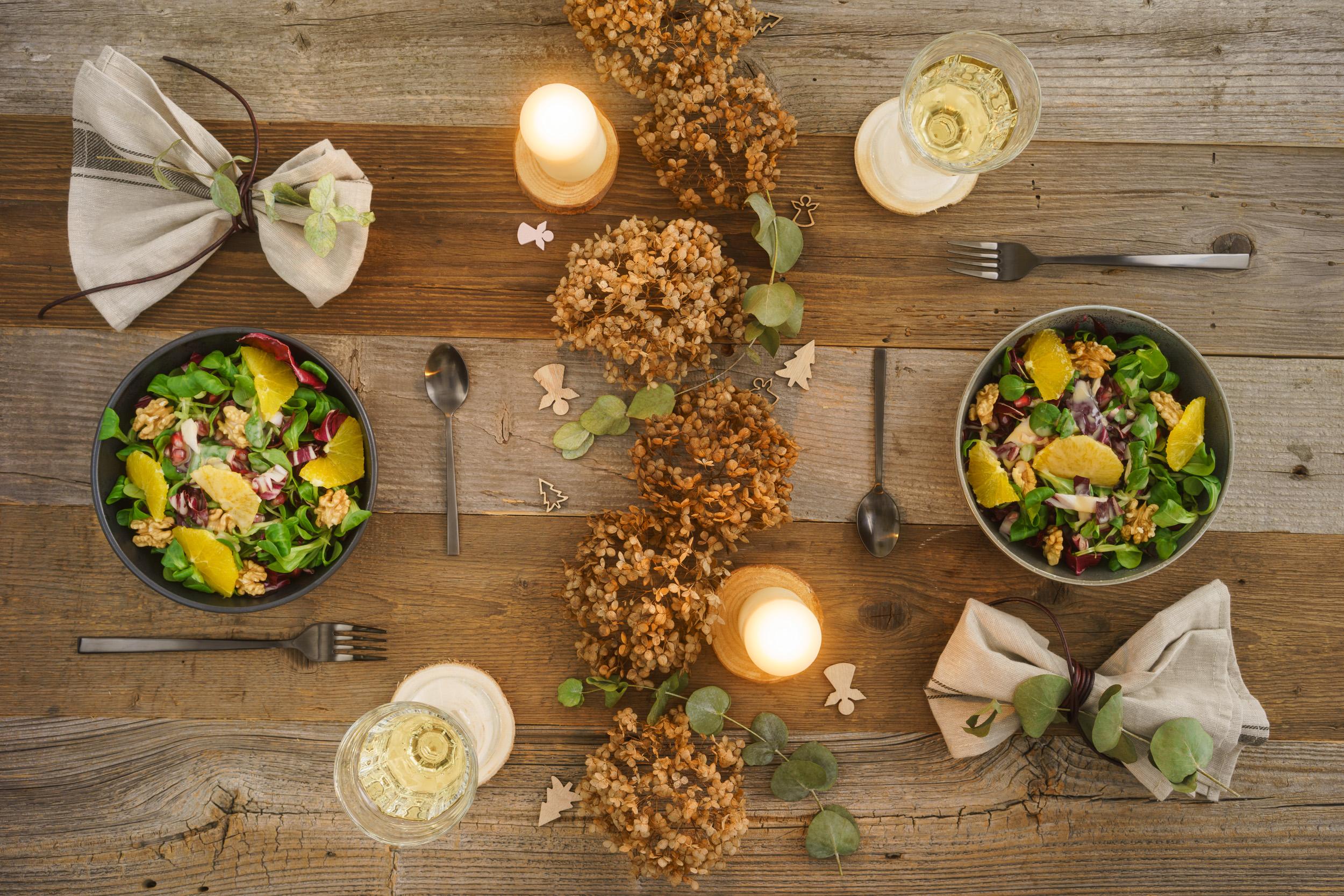 Vorspeise - Wintersalat mit fruchtigem Dressing