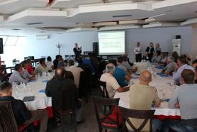 ABOVE: Global GAP training on Sept. 30, 2015 for farmers in Lushnje, Albania