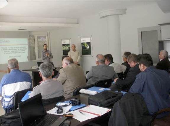 ABOVE: ISO22000 training in Korcha on 29th October 2015 for processors and cold store operators