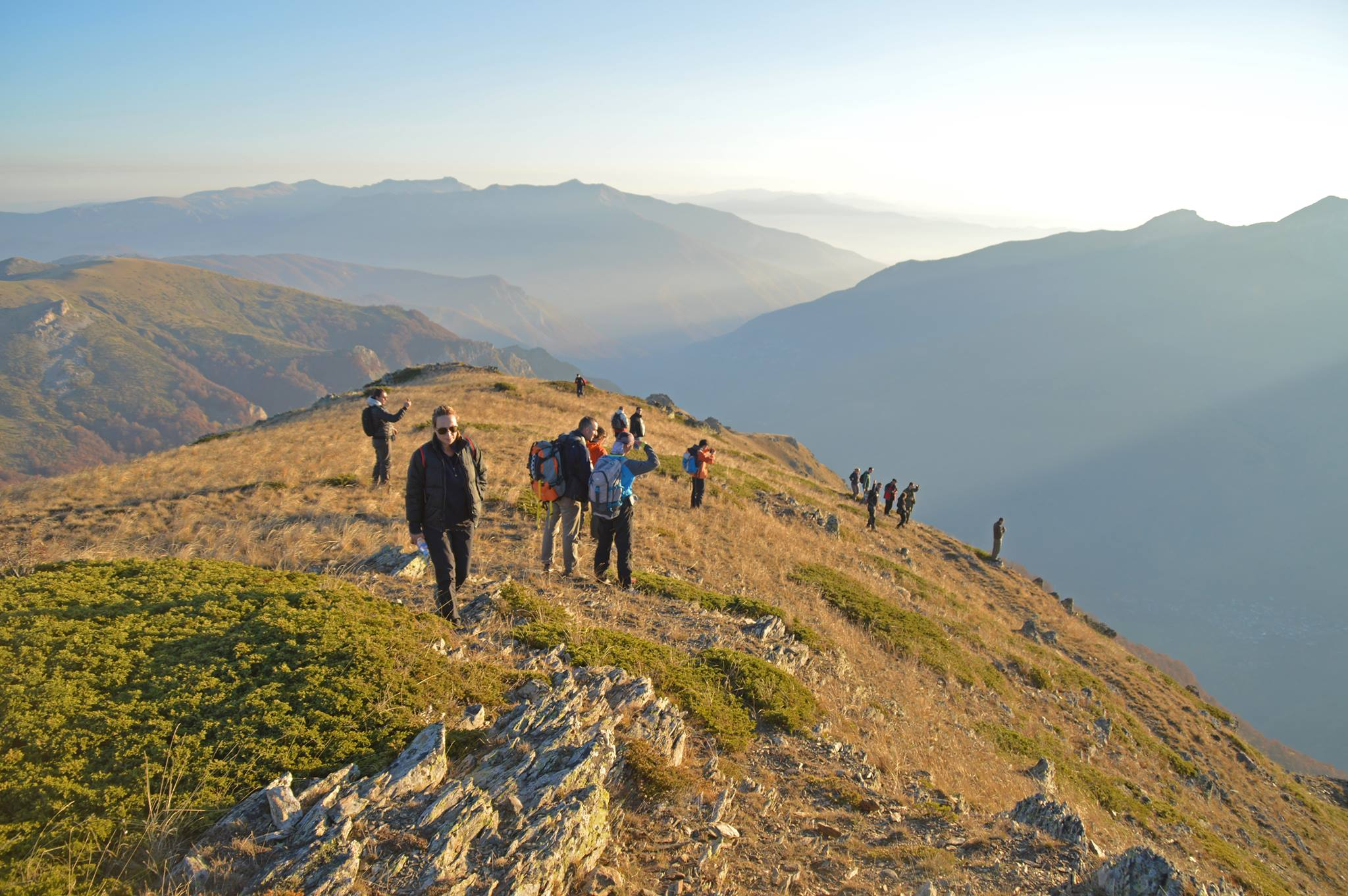 ABOVE: Distributing salt tablets on the peaks
