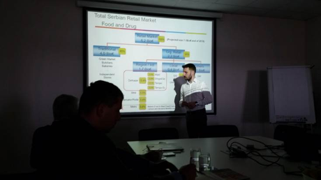 (ABOVE) Presentations made for exporters at the DELHAIZE center