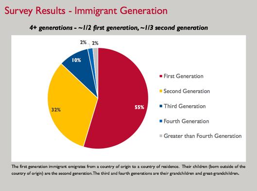 ABOVE An example of the Ukrainian diaspora generational breakdown
