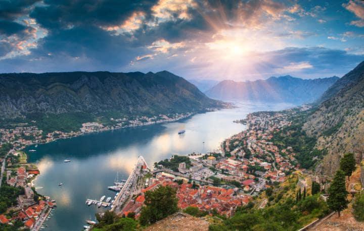 The Bay of Kotor in modern day Montenegro CREDIT:VOVIK_MAR - FOTOLIA