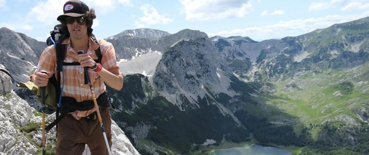 Alex Crevar stands in front of Trnovačko Lake in Montenegro near the Bosnia and Herzegovina border. - Thierry Joubert