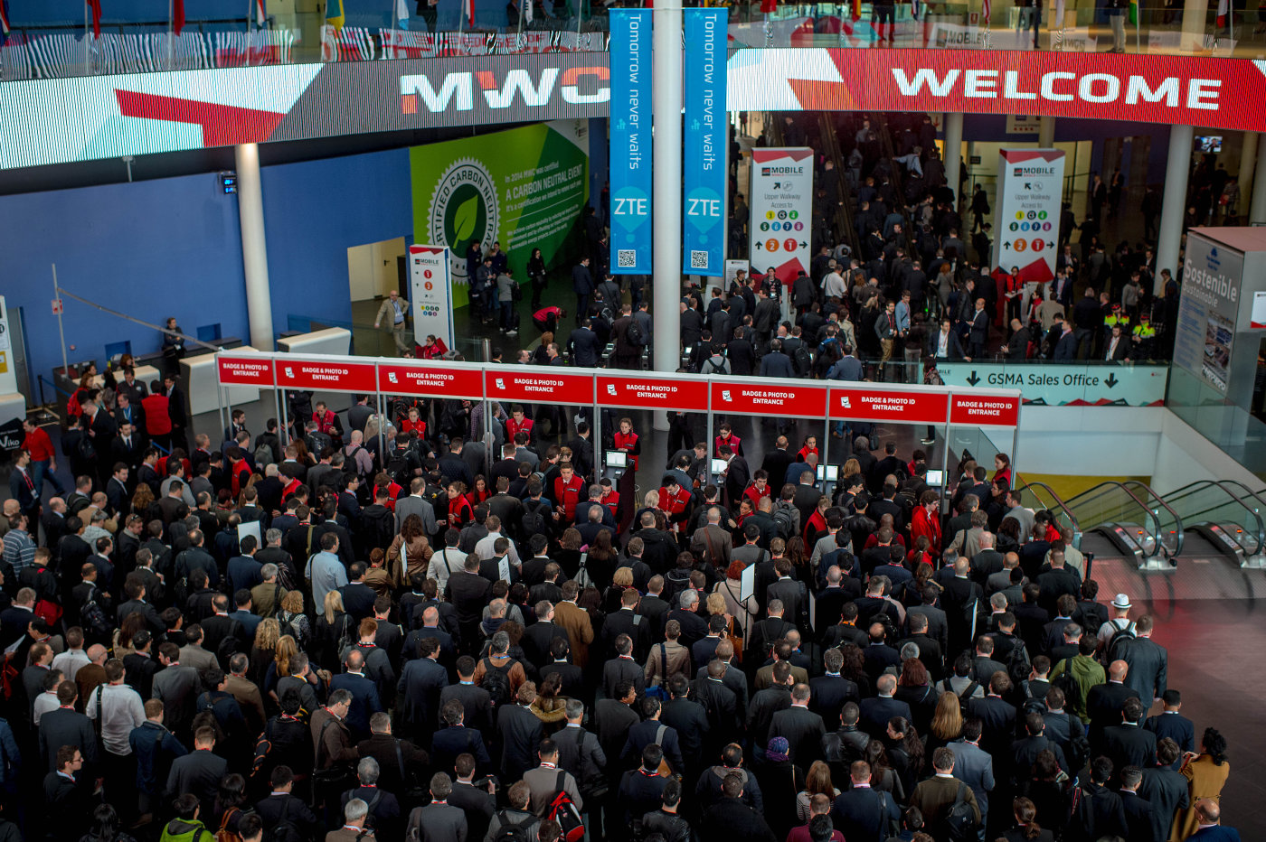 ABOVE: Record participation at MCW 2016 with nearly 101,000 attendees from 204 countries and territories present