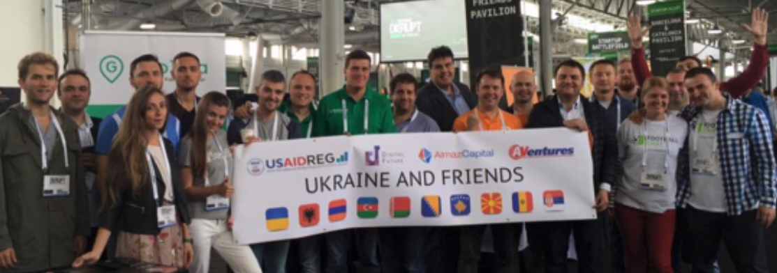 ABOVE: TRACTION Camp group at TechCrunch Disrupt San Francisco, September 2016
