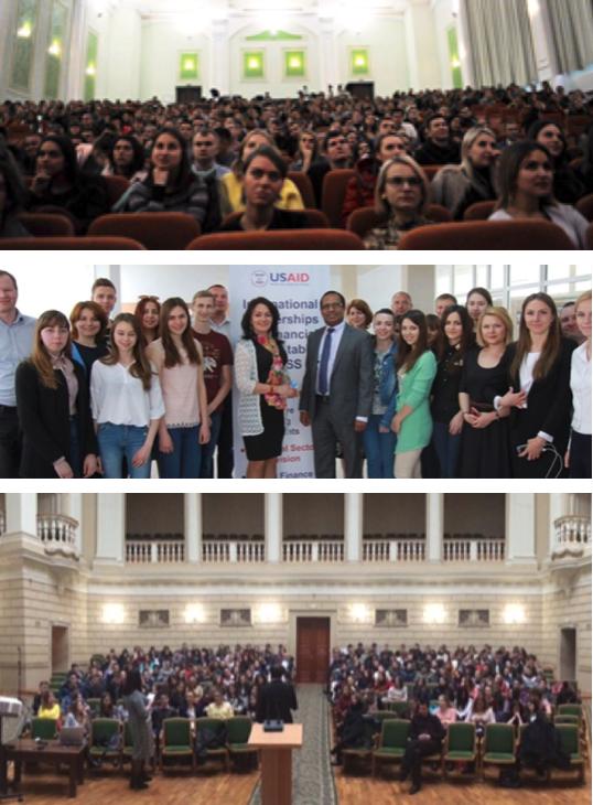 ABOVE (ALL):Kyiv University of Trade and Economics, November; Odesa Telecom University, June; and Lviv Ivan Franko University, November
