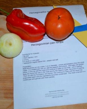ABOVE (L) Hercegovacka Tava recipe