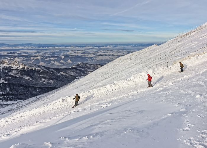 Skiers on Kasprowy Wierch, Zakopane