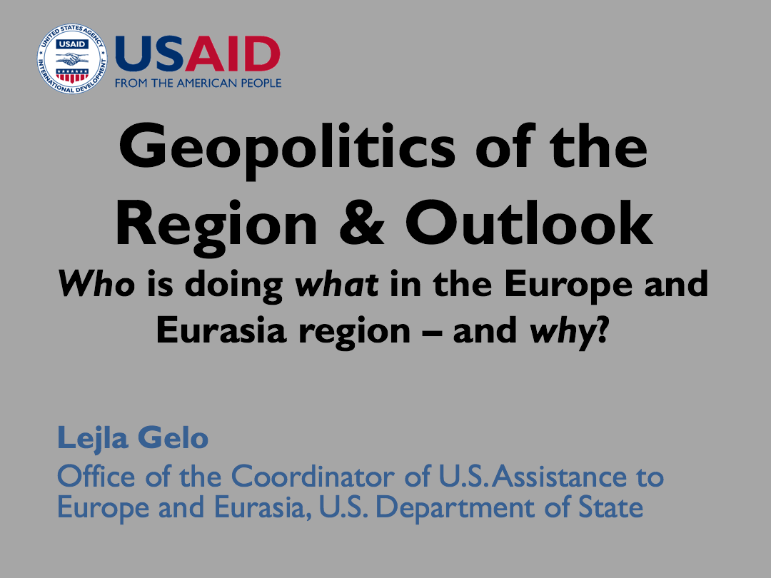 Geopolitics of the Region and Outlook