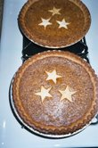 Baked Chai Pies with Star Decor