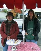 Bleugrass Chevre and Viburnum Valley Farm Confections in winter
