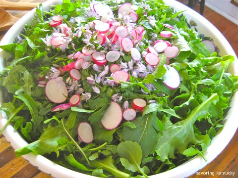 Friendship Salad: Tossing 3 gardens' provenance into one bowl