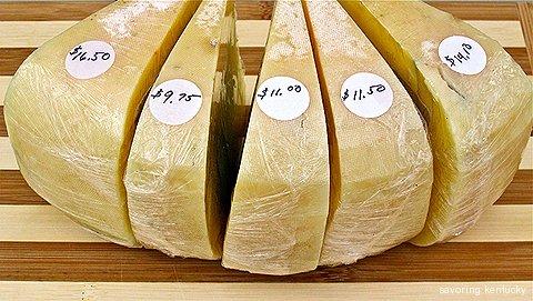 Beautiful sheep cheese from Good Shepherd Sheep Cheese, Owingsville, Kentucky