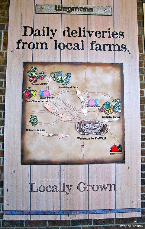 Wegmans Syracuse map of local farms supplying fresh produce